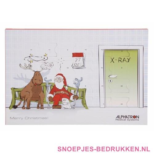 adventskalender bedrukken, adventskalender bedrukt, adventskalender kerst, adventskalender kerstgeschenk, adventskalender met chocolade bedrukken
