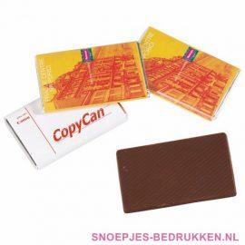 Chocolade tablet bedrukken, Chocolade tablet met logo, Chocolade tablet bedrukt, Chocolade bar bedrukken, Reep chocolade bedrukken, chocola bedrukken