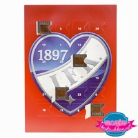 Adventskalender bedrukken, Adventskalender bedrukt, Adventskalender met logo, Adventskalender kerst, Adventskalender met chocolade bedrukken, Chocolade bedrukken