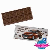 Chocoladereep bedrukken, chocolade reep bedrukt, bedrukte chocoladereep met logo