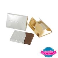 Creditcard chocolade tablet bedrukken stans