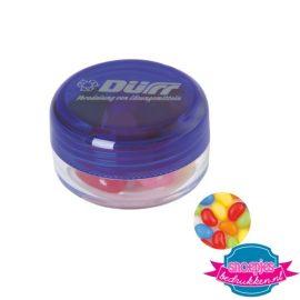 Rond potje jelly beans bedrukken paars
