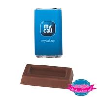 Chocolade rechthoek bedrukken melkchocolade goedkoopste