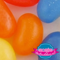 Glazen snoeppotje 395 ml jelly beans bedrukt logo