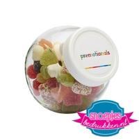 Glazen snoeppotje 395 ml tum tum mix goedkoop bedrukt