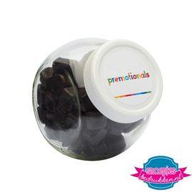 Glazen snoeppotje 870 ml drop bedrukken met logo