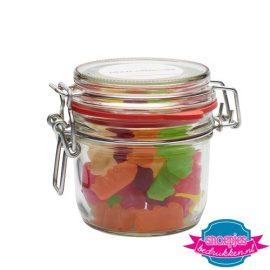 Glazen weckpot 255 ml gummi beren bedrukken