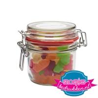 Glazen weckpot 255 ml gummi beren goedkoop bedrukt
