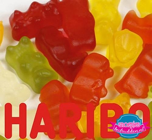 Haribo gummiberen snoeppot bedrukken
