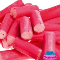 Roze zuurstokjes bedrukt snoepzak snoeppot