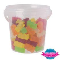 Snoep emmer transparant 670 ml gummi beren bedrukken