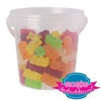 Snoep emmer transparant 670 ml gummi beren goedkoop bedrukt