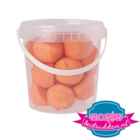 Snoep emmer transparant 670 ml marsh mellow oranje goedkoop bedrukt