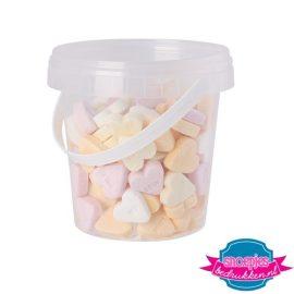 Snoep emmer transparant 670 ml suikerhartjes bedrukken