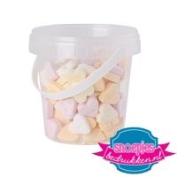 Snoep emmer transparant 670 ml suikerhartjes goedkoop bedrukken