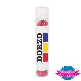 Transparant choco buisje full color bedrukken roze