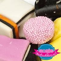Transparante snoepzakjes Engelse drop bedrukken goedkoop